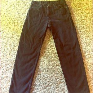 Men's Levi's 550 Black Jeans 36x34